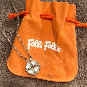 Folli Follie silver heart necklace